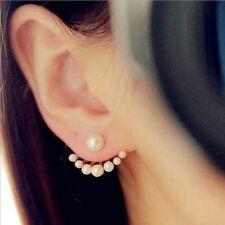 NiX Hi New Fashion Earrings Double Side Pearl Earrings Front Back Earrings Women