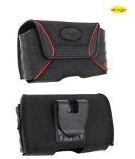 Rugged QX Medium Horizontal Pouch Belt Clip Apple iPhone 4 4S 3G 3GS Black NEW