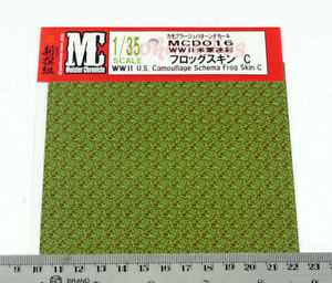US German Infantry Decal 1/35 Military WWII Model US Camouflage Schema Frog C