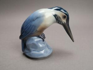Bing & Gröndahl B&G Prozellan Figur Eisvogel Kingfisher Nr.1885 SA mongr. NN