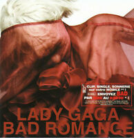 FRENCH CD SINGLE LADY GAGA BAD ROMANCE CARDBOARD SLEEVE RARE COLLECTOR BON ETAT