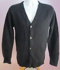 VTG Mens Unbranded Black Longsleeved USA Acrylic Cardigan Size Extra Small