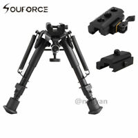 "Metal 6"" to 9""  Spring Return Bipod &Picatinny Rail 20mm QD Mount Adapter Rifle"