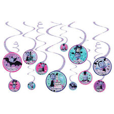 Vampirina Hanging Swirl Decorations (12) ~ Birthday Party Supplies Cutout Disney