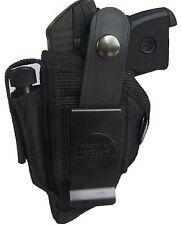 Ruger LCP 380 | Nylon Scabbard OWB Belt Gun Holster w Mag pouch  | Ambidextrous