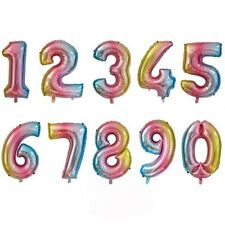 32 Inch Large Foil Birthday Number & Age Helium Balloons - Party Stock