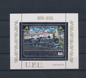 LN23069 Equatorial Guinea silver foil UPU anniversary good sheet MNH