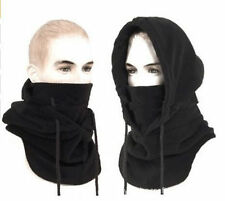 Black Polar Fleece Neck Warmer Snood Scarf Ski Motorbike Mask Mens Ladies Unisex
