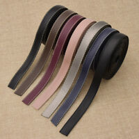 5M PU Leather Ribbon Fabric DIY Handmade Webbing Choker Hair Bow Sewing Material