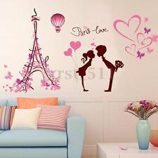 Removable Paris Eiffel Tower Love Wall Sticker Art Vinyl Home Decal Mural Decor