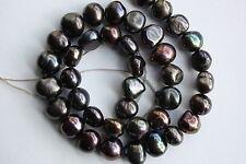 BR219S 10mm  Zuchtperlen Strang Süßwasser Perle Schmuck Ketten Halsketten barock