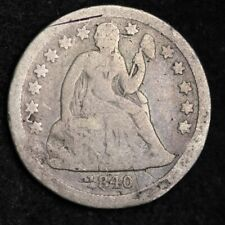 1840 W/D Seated Liberty Dime CHOICE G+ FREE SHIPPING E311 ACM