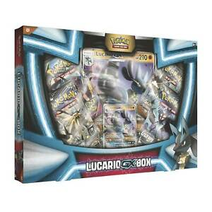 Lucario GX Box Pokemon Trading Cards Game TCG Case 4 Booster Packs Package NEW