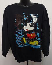 Mickey Mouse Mens Large Crewneck Sweatshirt Disney Vintage Retro Vtg Pullover