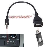 3.5mm Male AUX Audio Plug to USB 2.0 A Female Jack OTG Converter Lead Adapter