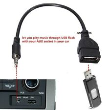 3.5mm Maschio Aux Audio Plug To USB 2.0 a Jack Femmina OTG Convertitore Cavo