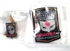 DC Legion Katana Patch and Deadshot Pin July 2016 Suicide Squad Movie