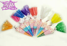 Cone Cellophane Bags   Various Sizes   Favour Sweet Party Display *TOP QUALITY*