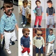Toddler Baby Kids Boys Shirt Tops Pants Outfits Clothes Set Suit Formal Outwear