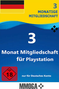 PlayStation Plus Mitgliedschaft 3 Monate - PSN 90 Tage Code - PS5 PS4 PS3 - DE