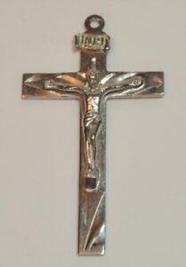 VTG RLP Sterling Crucifix Cross pendant 49mm x 27mm 5 gram