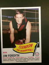 Scanlens Archives 1966 Pennant Jim Forsyth Essendon Bombers  #57