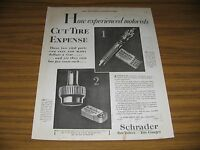 1928 Print Ad Schrader Tire Valves & Gauges Brooklyn,NY