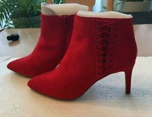 Red Suede Booties