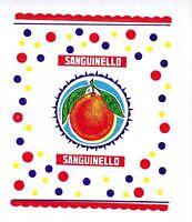 VECCHIA VELINA PUBBLICITARIA INCARTO DI AGRUMI - SANGUINELLO    (1)