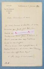 L.A.S 1900 Edwin BONNEFOY évêque de LA ROCHELLE & SAINTES - Warburton - lettre