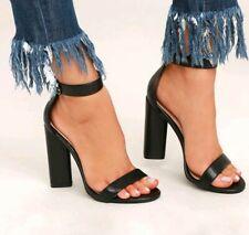 Lulus Kamali Black Ankle Strap Heels Size 8.5