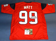JJ WATT AUTOGRAPHED HOUSTON TEXANS JERSEY AASH