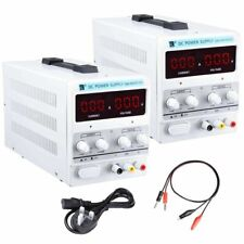 DC 30V 10/5A Variable Dual Adjustable Lab Bench Power Supply Precision LED 220V