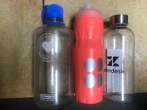 3 Branded Water Bottles 1000 ml. Nalgene Zendesk Sweaty Betty Lot
