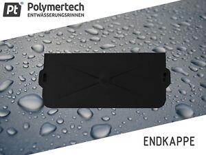 Kunststoff Stirnwand Endkappe für Entwässerungrinne SP-80 SP-120 SP-155 8-17,7cm