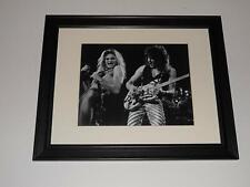 "Large Framed Eddie Van Halen/David Lee Roth '79 Van Halen Tour w/ Guitar 24""x20"""