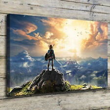 "12""x20""Legend of Zelda Breath Paintings HD Print on Canvas Home Decor Wall Art"