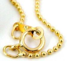 "20"" round ball bead 14k yellow gold filled chain necklace made in USA w/ clasp"