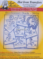 Aunt Martha's Hot Iron on Transfers - Sunbonnet Duck #3979