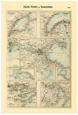 Ireland Dublin Belfast Cork Sligo Galway illustrated map Fullarton ca.1872