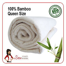 Bamboo Batting for Quilts Patchwork Quilting fabric Queen Size Quilt Wadding NEW