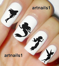 Disney Princess Silhouette Nail Tink Art Water Stickers Manicure Salon Polish
