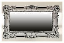 BAROQUE ANTIQUE MIROIR MURAL ANCIEN ORNEMENTATIONS Blanc Noir 96x57
