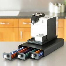 Nespresso Coffee Machine Stand and Capsule Pod Storage Holder 3 Drawer