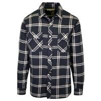 Rip Curl Men's Navy White Plaid L/S Flannel Shirt (S20)