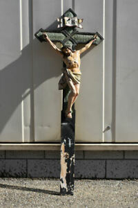 h05x03- Kruzifix, Holz geschnitzt & gefasst, 19.Jh.