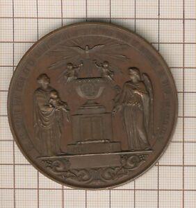 """grande  médaille religieuse (142g ! ) """"qui ne renait par l'eau et le St Esprit"""""""