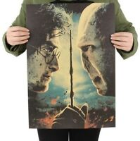 Harry Potter Vintage Movie Poster Part 2 The Deathly Hallows Paper Wall Sticker