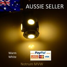 2x Subaru Outback LED Park Plate Reading Warm Day White Bulb Globe 5050 5smd w5w