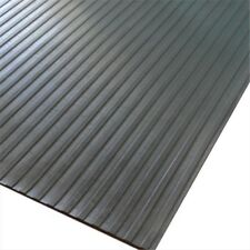 Rubber-Cal Wide Rib Corrugated Rubber Roll Floor Mat 72 x 48 x 0.13 in.